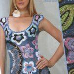 Rengarenk Cıvıl Cıvıl Örgü Bayan Elbise Modelleri