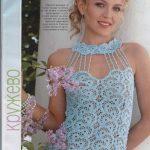 2013 Bayan Dekolteli Örgü Elbise Modelleri