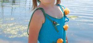 Kız Çocukları İçin Sevimli Örgü Bluz ve Kazak Modelleri