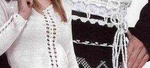 Örgü Göbek Üstü Bayan Bluz Modelleri