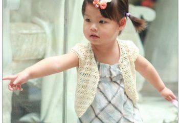 Kız Çocuk Örgü Yelek Modelleri