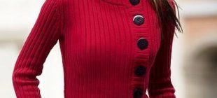 Renkli Örgü Kışlık Bayan Hırka Modelleri