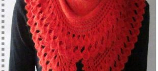 Kırmızı Renkli Örgü Şal Modelleri