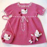 Trend Örgü Kız Çocuk Elbise Modelleri