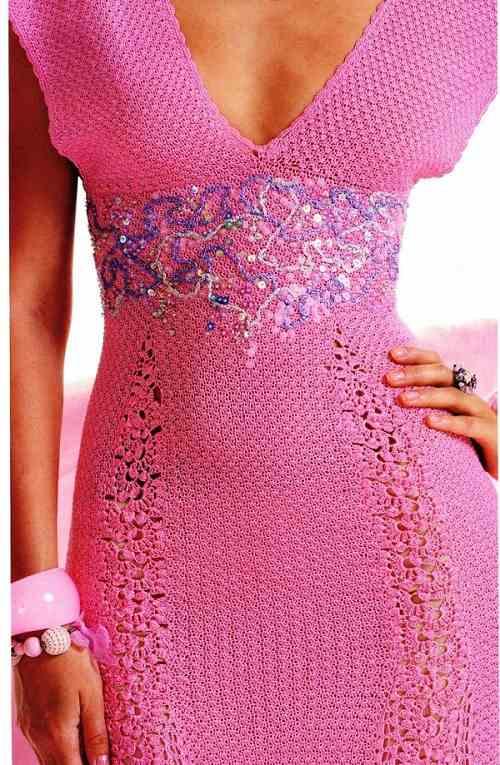 Вязание с крючком платье на зиму 395