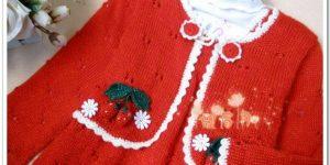 Renkli Süslemeli Örgü Bebek Kıyafetleri