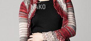 Ajur Desenli Fırfırlı Bayan Bolero Modeli