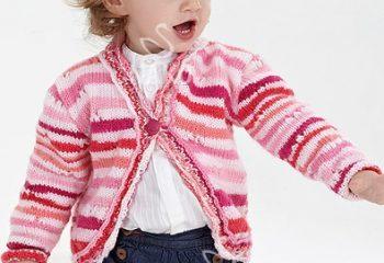 Ajur Desenli Tek Düğmeli Çocuk Hırka Modeli