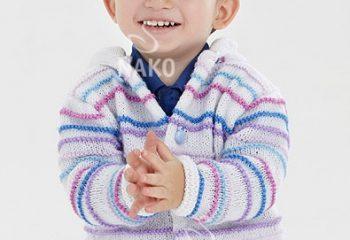 Haraşo Örnekli Erkek Bebek Kapüşonlu Hırka Modeli