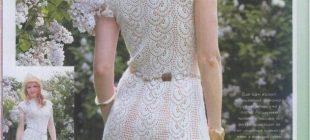Şemalı Anlatımlı Örgü Elbise Modelleri