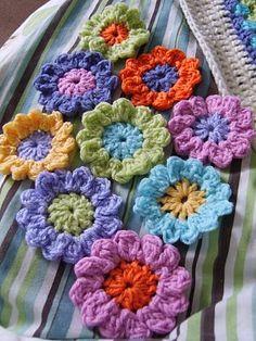 Renkli örgü çiçekler örgü El Işleri Kazak şal Bebek örgüleri Modelleri