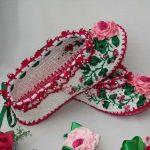 Örgü Çetik Ev Botu ve Ev Ayakkabıları
