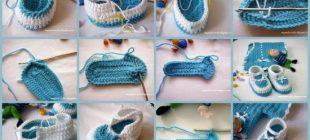 Mavi Erkek Bebek Patiği Yapılışı