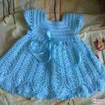 Kız Çocukları için Örgü Elbise Tarifi – Resimli Aşamalı